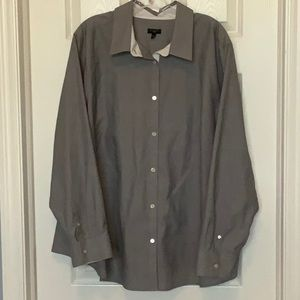 Talbots Beautiful Button-down Gray blouse